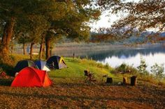 Camping in Maine; I feel less stressed even looking at this picture! outdoor campingrecip, camp outdoor, outdoor sport, lakes, camp destin, travel, main outdoor, river, camp grill