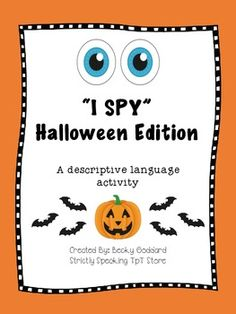 """I Spy"" Descriptive Language Game - Halloween Edition"