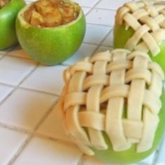 Apple pies baked in apples!