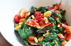 Swiss chard with rai