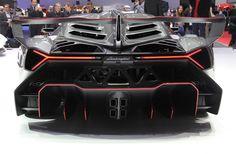 50th anniversary lamborghini veneno rear view - looks like a bat mobile!