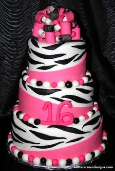 Zebra cake ideas
