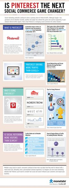 Pinterest Drives More Traffic For Retailers Than Google+ [Infographic]
