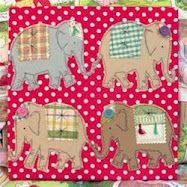 Free pattern! marching elephants