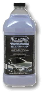 Ultra-Ion 64oz Refill bottle..It is used with a 8oz pump bottle. It is extremely aggressive in emulsifying all organic matter as well as bugs, bird droppings and tar & iworks exceptionally well on glass, mirrors & chrome! It can be applied to dark colors in any natural occurring heat from the sun.