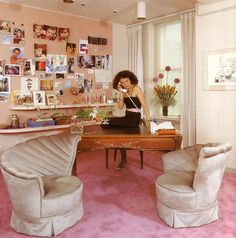 Well suited for work - Diane Von Furstenberg in her office - 1970's #dvf @DVF
