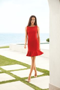 New arrivals from Lauren Ralph Lauren: this vibrant red hue makes a major statement from the office to off duty