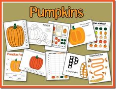Pumpkins theme activities.
