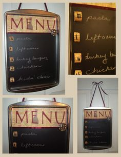 Cookie Pan Chalkboard... so doing this!
