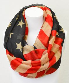 Red & Blue American Flag Infinity Scarf