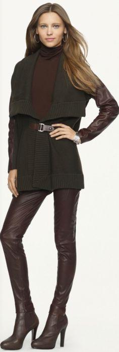 The Wonderful World of Ralph Lauren Fashion -Stretch-Leather Jamie Pant