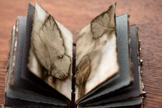Pages dyed with Nine Bark leaves by Leslie Marsh