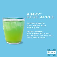 KINKY Blue Apple #cocktails #recipe #drink