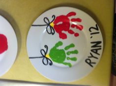 Handprint Ornaments decorative plate