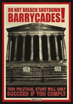 Shutdown Barrycades