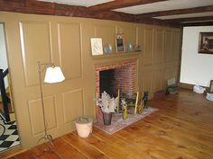 Colonial wall paneling floor