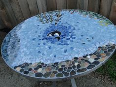 Custom Handmade Stained Glass Mosaic Table Top The by TRWmosaics, $1099.00