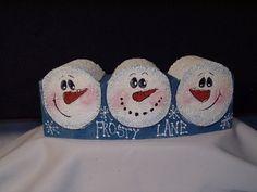 Snowman Painted Cement Paver. Love!!