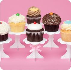 Recycled paper cupcake stands