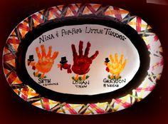 turkey handprint plaid platter by PicassoZ, via Flickr