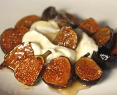 Roasted Figs with Creme Fraiche and Honey....OHHH MY!