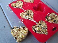 18 Valentine Crafts For Kids You'll Love   diycandy.com valentine crafts, valentine day crafts, bird feeders, kids, preschool crafts, birds, craft ideas, peanut butter, kid crafts