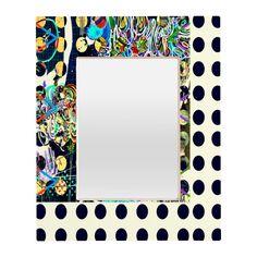 Randi Antonsen Polka Dot Fun Rectangular Mirror | DENY Designs Home Accessories