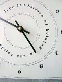 Rumi quote clock.
