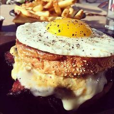 Pastrami Nosh at Plan Check Kitchen + Bar (Los Angeles, CA). #UniqueEats #eggs