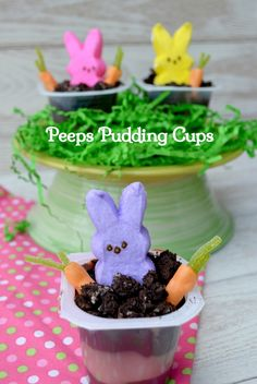 Peeps Pudding Cups-Fun for Kids to Make