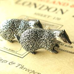 Badger cufflinks.  For when I want to be a distinguished HufflePuff