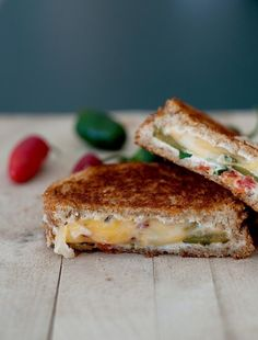 Omg! I HAVE to try this! Jalapeno Popper Grilled Cheese