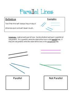 Schools Math, Identifying Parallel, Math Geometry, 191 200 Identifying ...