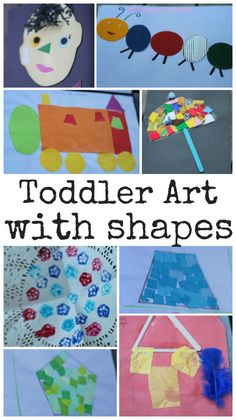 Toddler Art with Shapes - In The Playroom