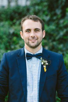 bow tie + checkered shirt, photo by Lad & Lass http://ruffledblog.com/villa-paradiso-wedding #wedding #grooms