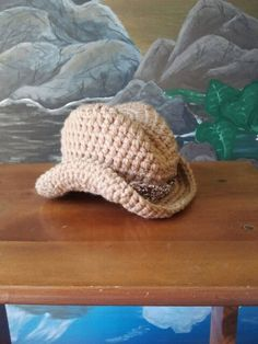 Crochet Cowboy Hat For Baby Shoots