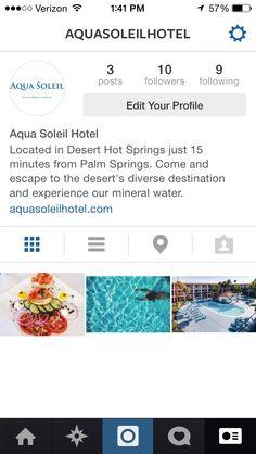 Be sure to follow us on Instagram! @aquasoleilhotel