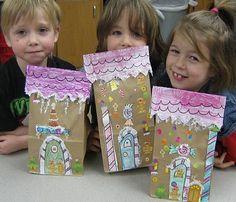 Paper Bag gingerbread houses - cute!