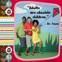 "Quotes by Dr. Seuss:  ""Adults are obsolete children."" (Download a FREE one page poster for this quote on:  http://www.uniqueteachingresources.com/Dr-Seuss-Quotes.html)"