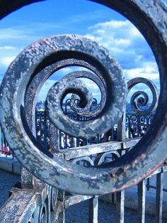 Wrought iron spiral.