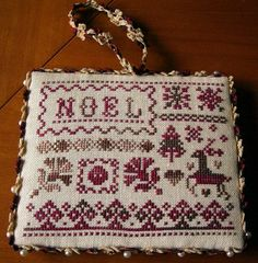 Noel cross-stitch - free