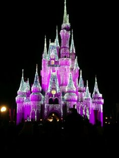 Pink Disneyworld Castle!