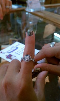 1920s vintage engagement ring <3 sooooooo beautiful. caught my eye from 100 feet away!