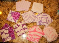 purple and pink chenille blanket soon to be