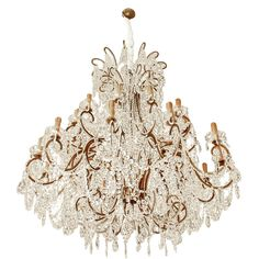Color #5: EYE CANDY - Italian chandelier with vintage Murano glass crystals