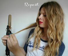 The best beachy/boho hair tutorial I've seen! I've used this for my hair and it comes out perfect every time!