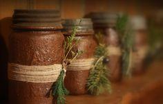 Grubby jars that I made last Christmas.