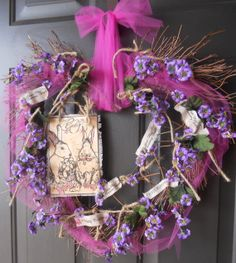 Easter Wreath ~ Vine Heart Wreath ~ Easter Bunny   by PebbleCreekDesigns
