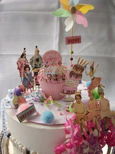 Birthday girl cake topper!
