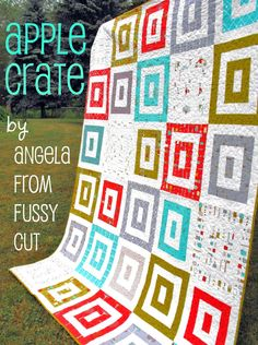Moda Bake Shop: Apple Crate Quilt #modabakeshop #modafabrics #lovepinwin